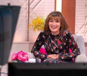 Lorraine Kelly stuns in velvet midi dress perfect for the party season