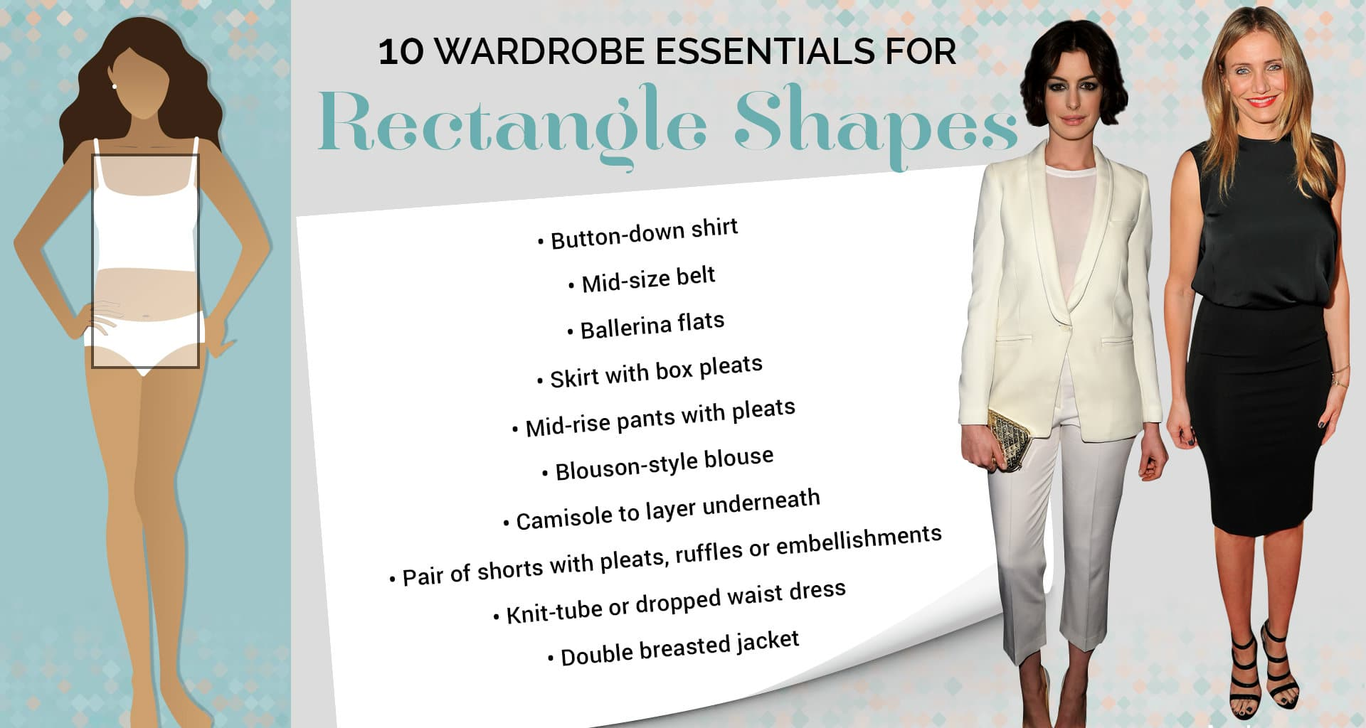 how to dress on rectangle body type