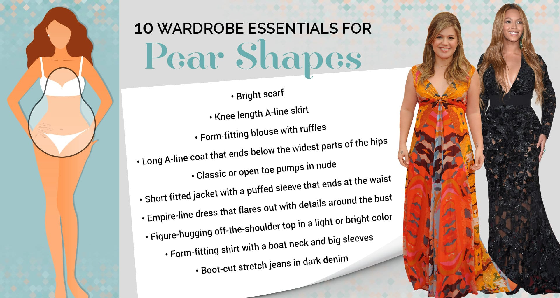 how to dress on pear-shaped body