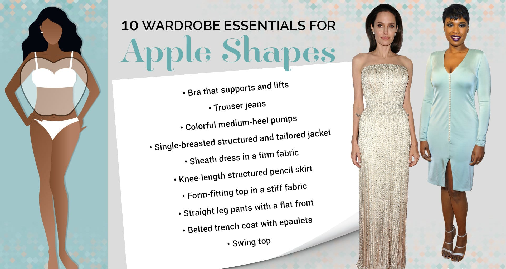 best clothes for apple-shaped body