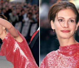 "Julia Roberts says hairy armpits at 1999 ""Notting Hill"" Premiere was not a statement"