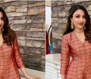 Soha Ali Khan Looks Lovely in a Raw Mango Dress