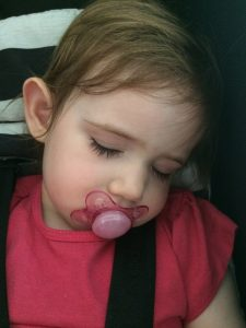 Toddler sleeping with dummy