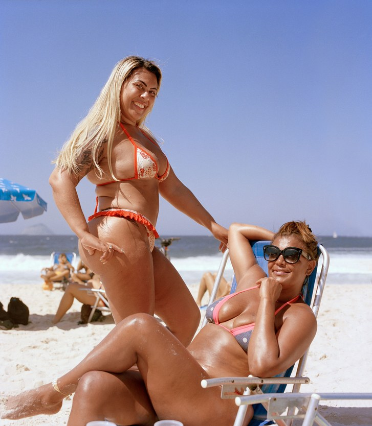 women in swimsuit on a beach in Brazil