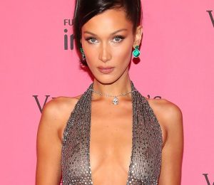 Bella Hadid releases nipple at Victoria's Secret After Party