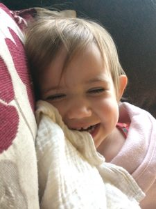 Toddler with happy teeth