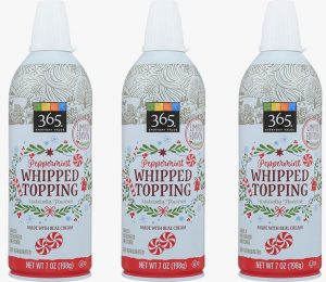 Peppermint whipped cream is official in a whole food near you