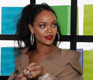Rihanna uses reported Lookalike model to test eyebrow styles