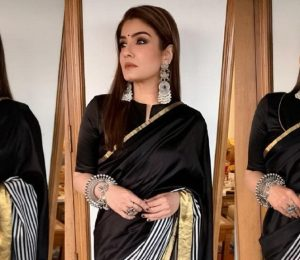 Raveena Tandon In A Raw Mango Sari: Yay Or No?