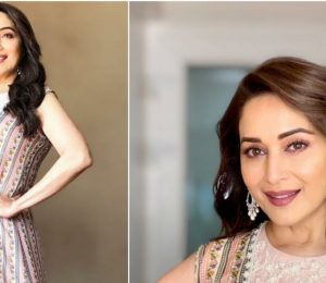 Madhuri Dixit In Ridhi Mehra At Kalank Promotions
