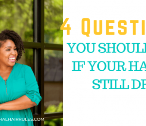 Is your hair still dry? Is it always dry? Answer these 4 questions
